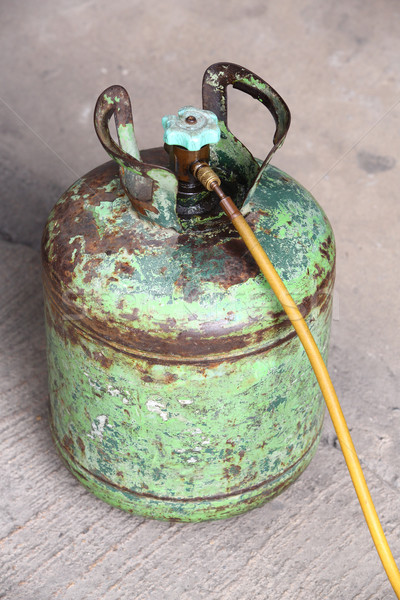 Old refrigerant tank Stock photo © smuay