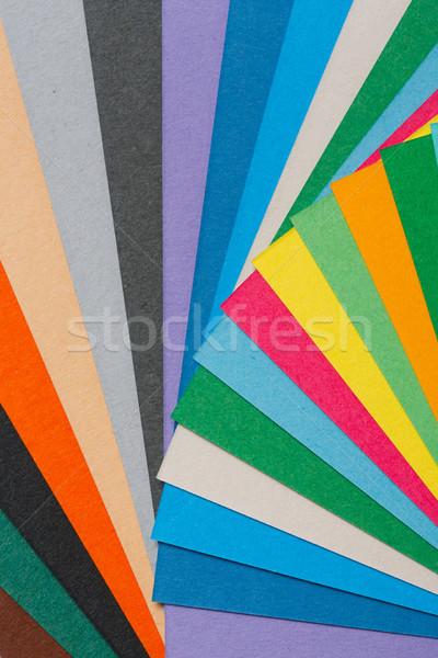 Szín papír közelkép egyezség textúra terv Stock fotó © smuay