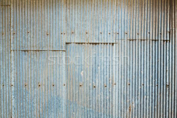 Grunge Corrugated Zinc Sheet Stock photo © smuay