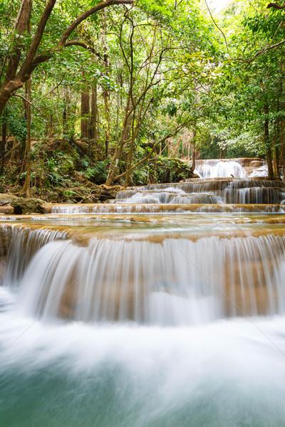 Vízesés park Thaiföld természet víz fa Stock fotó © smuay