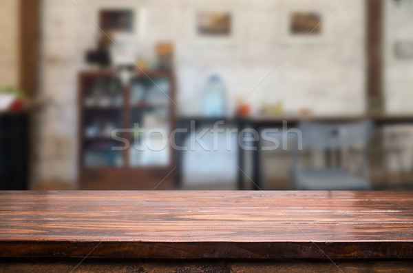 Empty wooden table and room interior decoration background, prod Stock photo © snowing