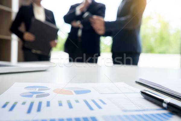 бизнеса документа touchpad столе служащих строительство Сток-фото © snowing