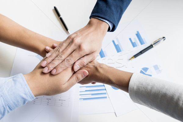 Teamwork Power Successful business Meeting Workplace Concept Stock photo © snowing