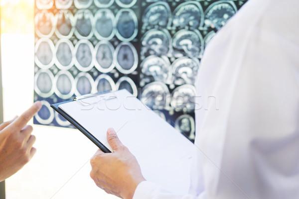 Hoogleraar arts discussie methode patiënt behandeling Stockfoto © snowing