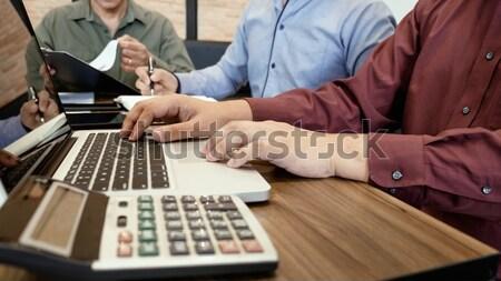 Programmering codering software ontwerper werken Stockfoto © snowing