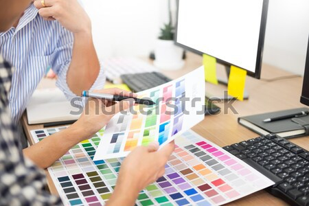 interior design or graphic designer renovation and technology co Stock photo © snowing