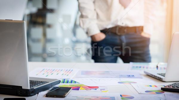 Giovani imprenditore documenti conferenza lavoro pianificazione Foto d'archivio © snowing