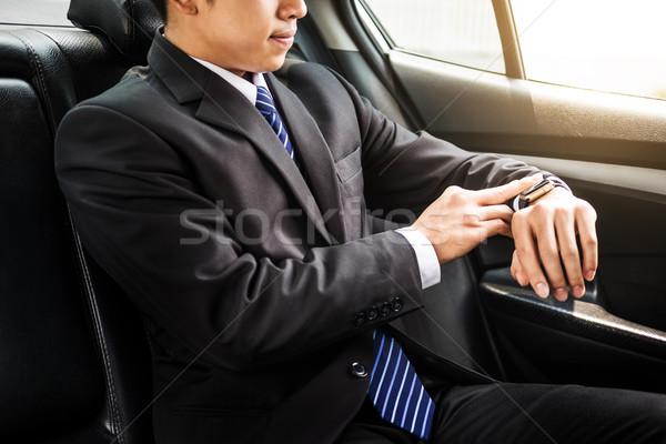 ハンサム ビジネスマン 見える 車 オフィス ストックフォト © snowing