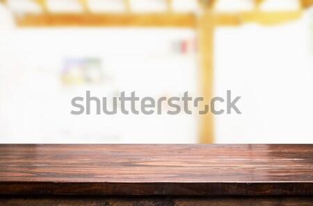 Pusty zamazany Kafejka świetle produktu Zdjęcia stock © snowing