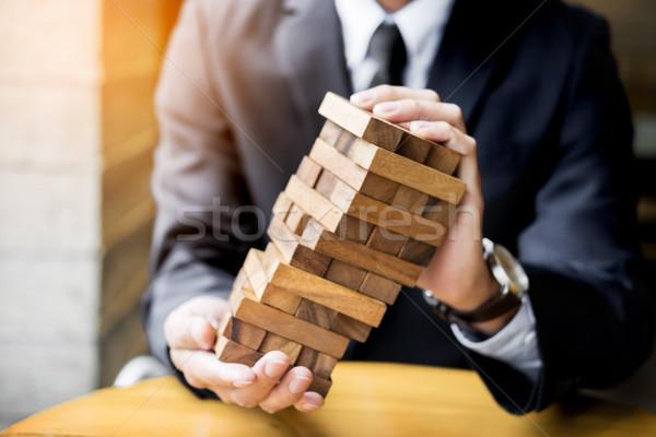 Planejamento risco riqueza estratégia negócio empresário Foto stock © snowing