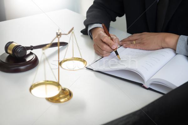 Gabela justiça lei advogado trabalhando Foto stock © snowing