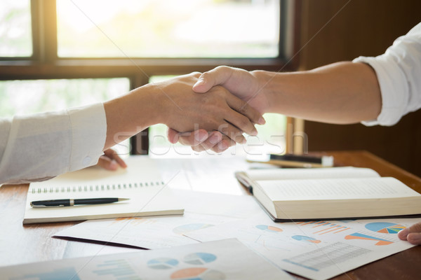 handshake success dealing, Two confident business man meeting in Stock photo © snowing