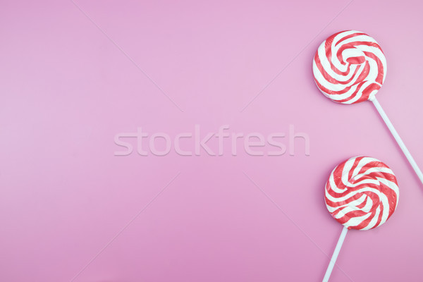 Flat lay top view tasty appetizing concept, minimal Sweet Treat  Stock photo © snowing
