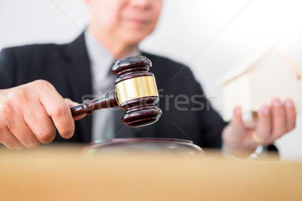 судья пальца вниз прав иск Сток-фото © snowing