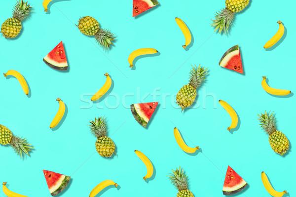 Modèle fraîches été sweet fruits vacances Photo stock © snowing