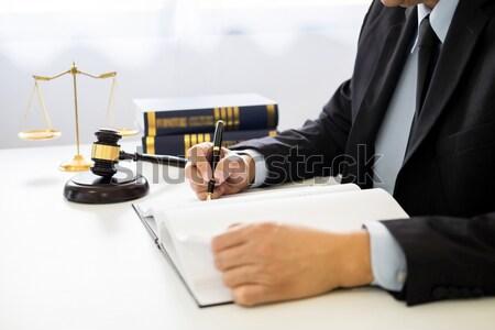 Marteau sonores justice droit avocat travail Photo stock © snowing