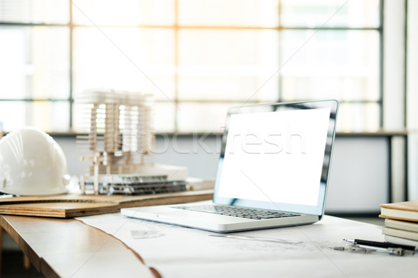 Architectural Office desk background construction project ideas  Stock photo © snowing