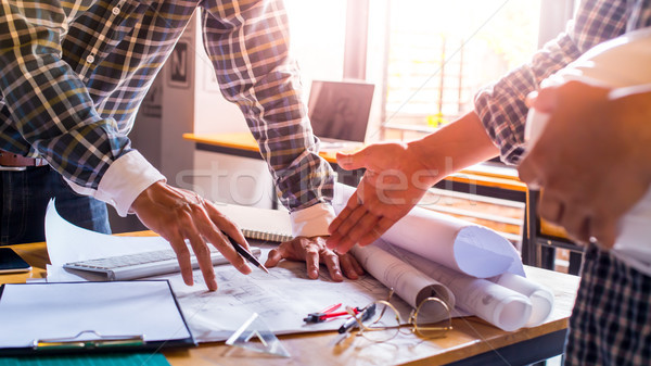 Architect Design Project Meeting Discussion Concept wite dark an Stock photo © snowing