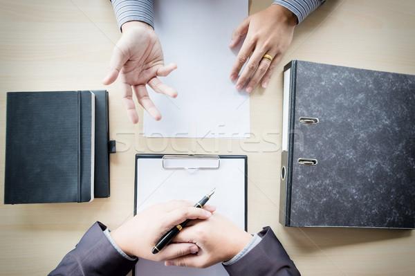 Top мнение бизнесмен интервью служба человека Сток-фото © snowing