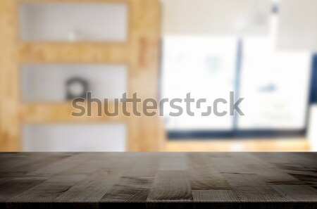 üres fa asztal felső homály ablak üveg Stock fotó © snowing