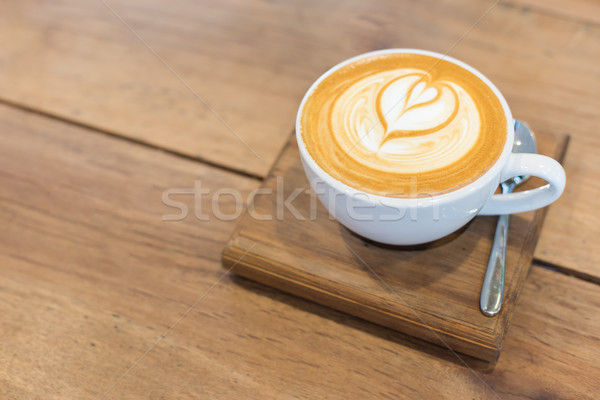 Hot art Latte Coffee on the table. Stock photo © snowing