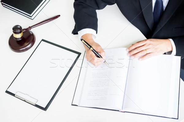 Сток-фото: адвокат · стороны · документа · суд · правосудия · прав