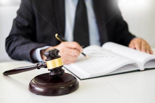 Martillo sonido justicia ley abogado de trabajo Foto stock © snowing