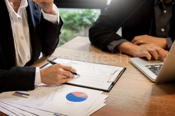 Businessman team working at office desk and using a digital comp Stock photo © snowing