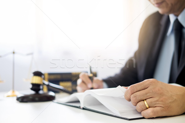 Gabela soar justiça lei advogado trabalhando Foto stock © snowing