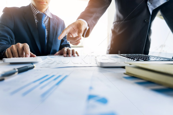Administrator business man financial inspector and secretary mak Stock photo © snowing