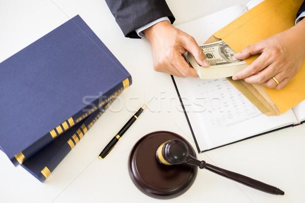 Advocaat geld cliënt bureau recht Stockfoto © snowing