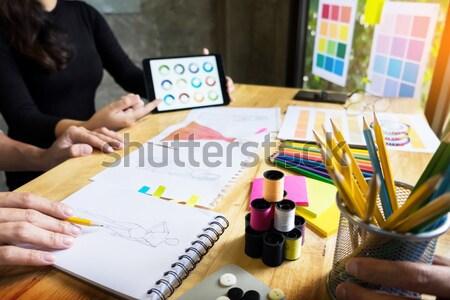 Сток-фото: рабочих · моде · дизайнера · цвета