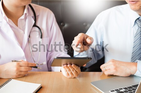 healthcare, hospital and medicine concept - doctor and patient m Stock photo © snowing