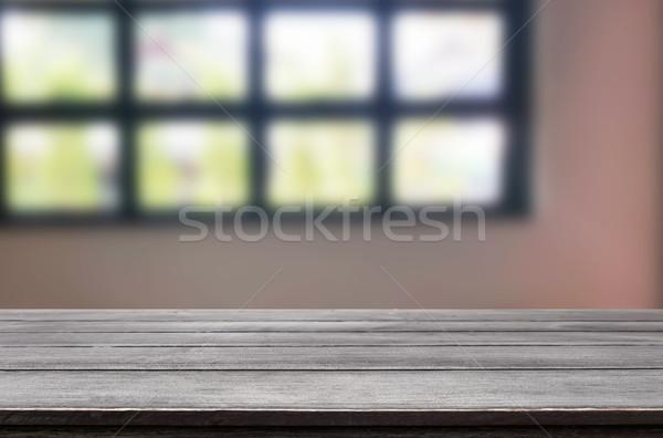 Vuota tavola spazio offuscata Foto d'archivio © snowing