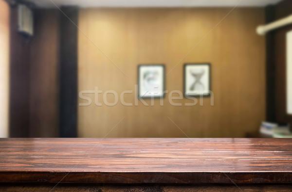 Pusty tabeli przestrzeni zamazany Zdjęcia stock © snowing