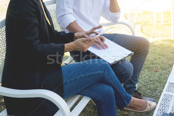 Coworking conference, Business team meeting present, investor ex Stock photo © snowing