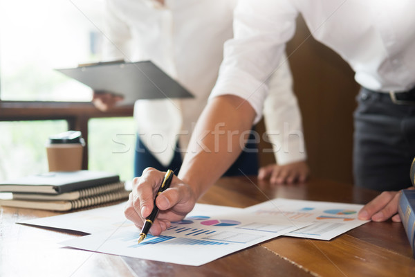 Business presenting to colleagues at a meeting Design Ideas Conc Stock photo © snowing