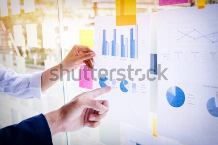 Businessman making presentation with his colleagues and business Stock photo © snowing
