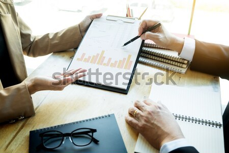 Team work process. young business managers crew working with new Stock photo © snowing