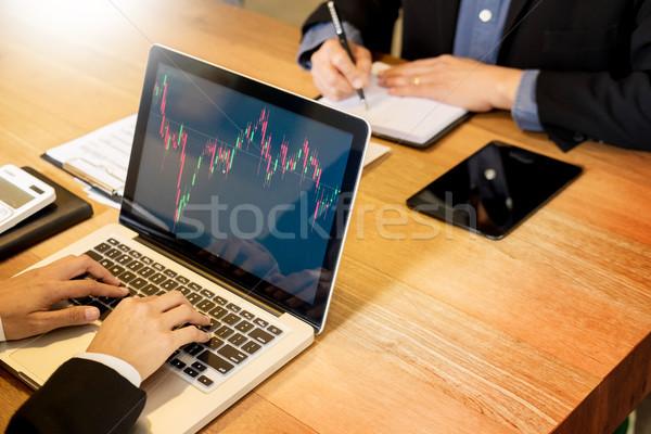 Finanse ticaret müdür ekran Stok fotoğraf © snowing