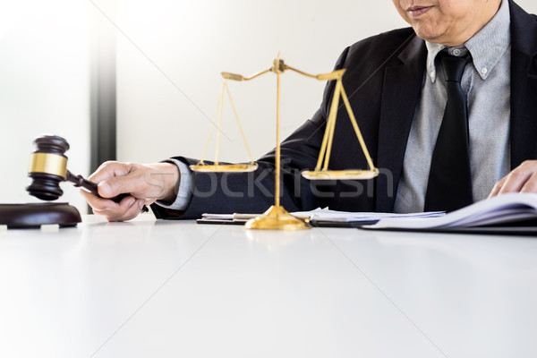 Masculino juiz advogado gabela casa Foto stock © snowing