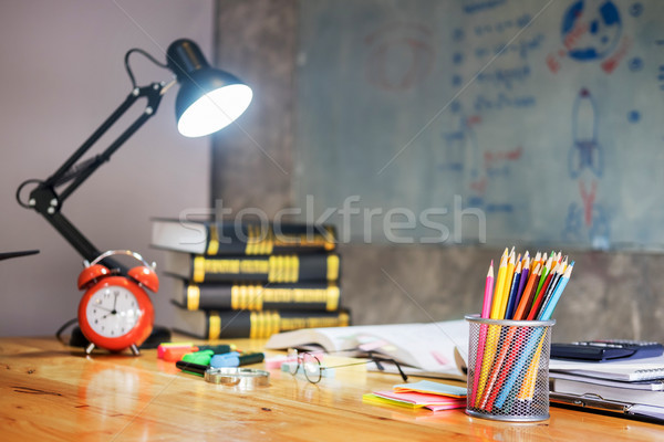 colorful equipment class with typical wooden benches Books and b Stock photo © snowing