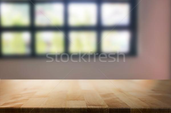 Vide table espace plate-forme floue Photo stock © snowing