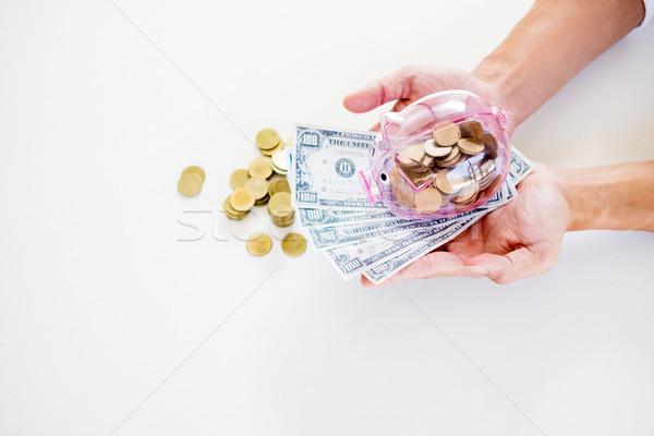 üzletember pénz asztal könyvelés férfi üzletember Stock fotó © snowing