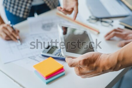 Creative or Interior designers teamwork with pantone swatch and  Stock photo © snowing