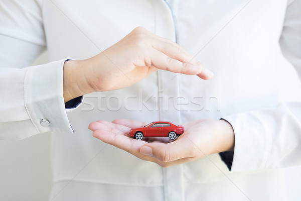 Car (automobile) insurance and collision damage waiver concepts. Stock photo © snowing