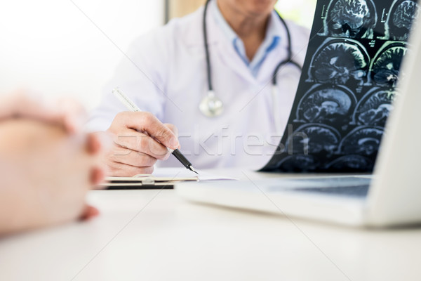 Professor Doctor discussion a method with patient treatment, wit Stock photo © snowing
