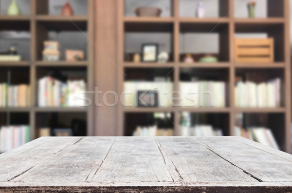 Vide table espace plate-forme floue Photo stock © snowing