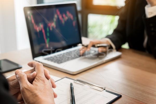 金融 貿易 マネージャ レポート 画面 ストックフォト © snowing