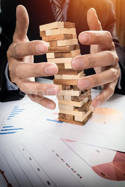 Planejamento risco estratégia negócio empresário jogos de azar Foto stock © snowing